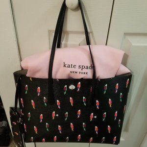 Molly Flock Party Large Tote Kate Spade w/ D-Bag